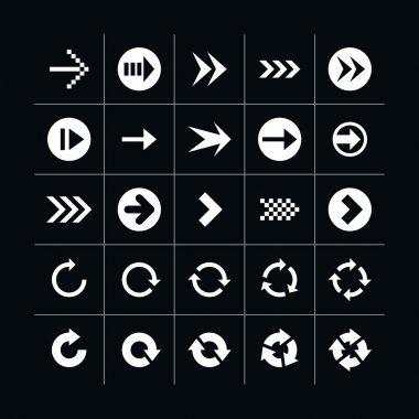 25 arrow sign icon set
