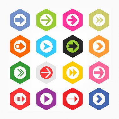 Arrow icon sign set