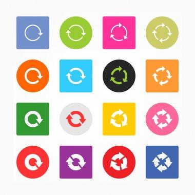 Arrow pictogram refresh reload rotation loop sign set