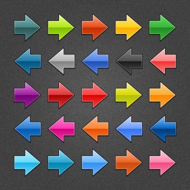 25 arrow sign web 2.0 icon