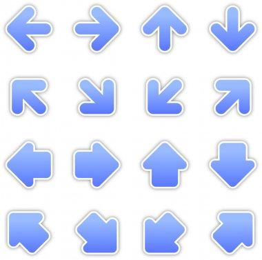 Blue arrow sign sticker web button