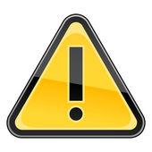 Fényképek veszélyre figyelmeztető figyelem jel felkiáltójel szimbólum fehér