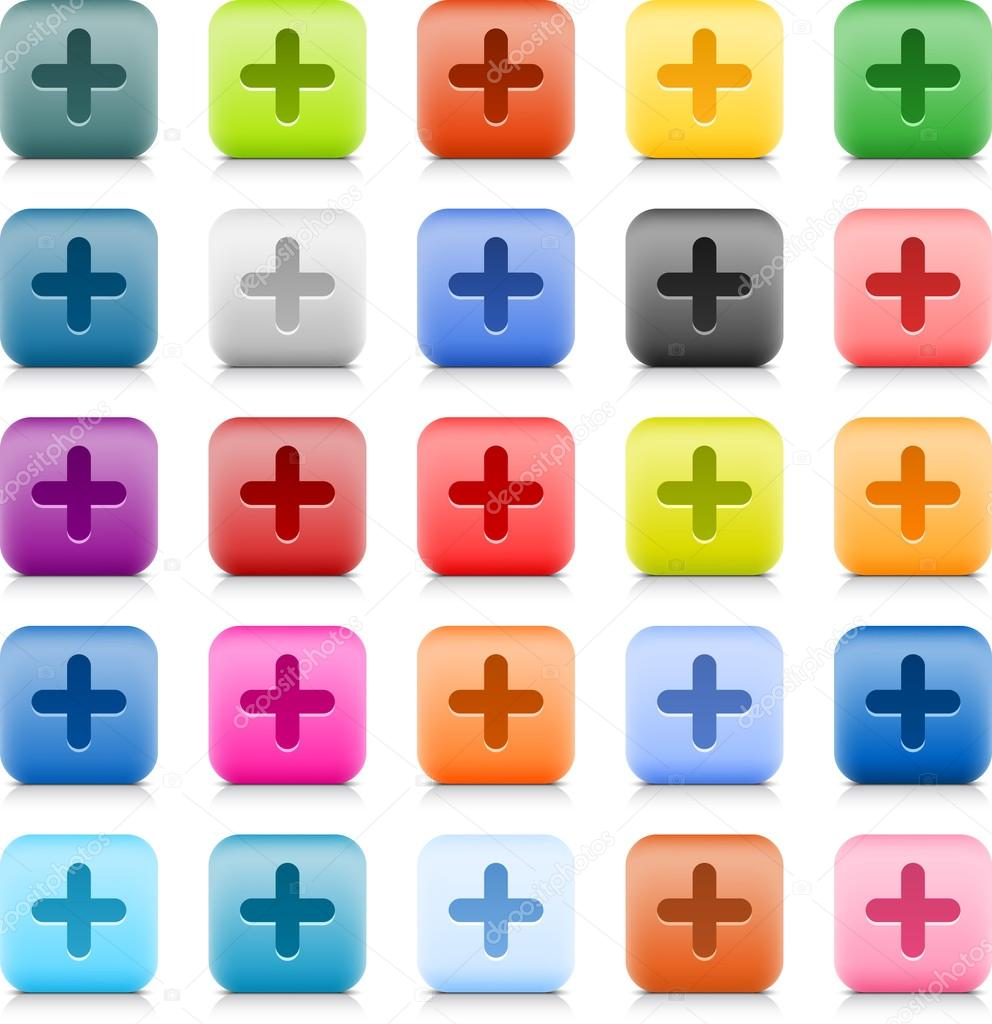 Stone web button with color plus sign 25 variation rounded square stone web button with color plus sign 25 variation rounded square icon with shadow and biocorpaavc Choice Image