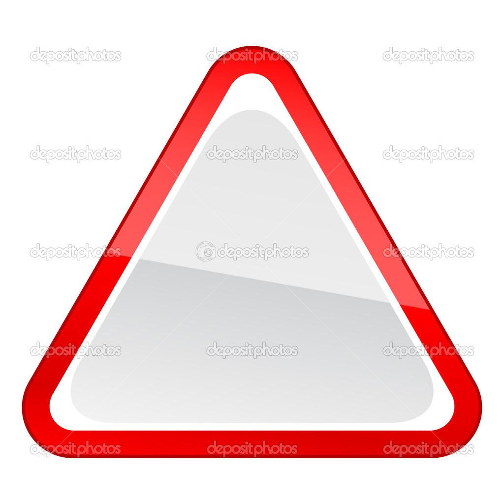 panneau d 39 avertissement attention de vide triangulaire rouge sur fond blanc image vectorielle. Black Bedroom Furniture Sets. Home Design Ideas
