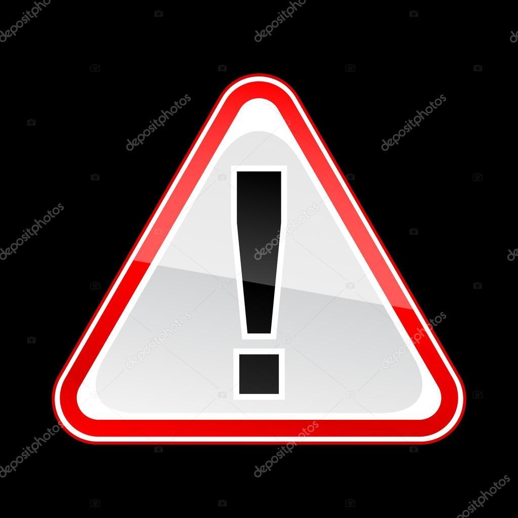 panneau d 39 avertissement attention danger rouge avec point d 39 exclamation sur fond noir image. Black Bedroom Furniture Sets. Home Design Ideas