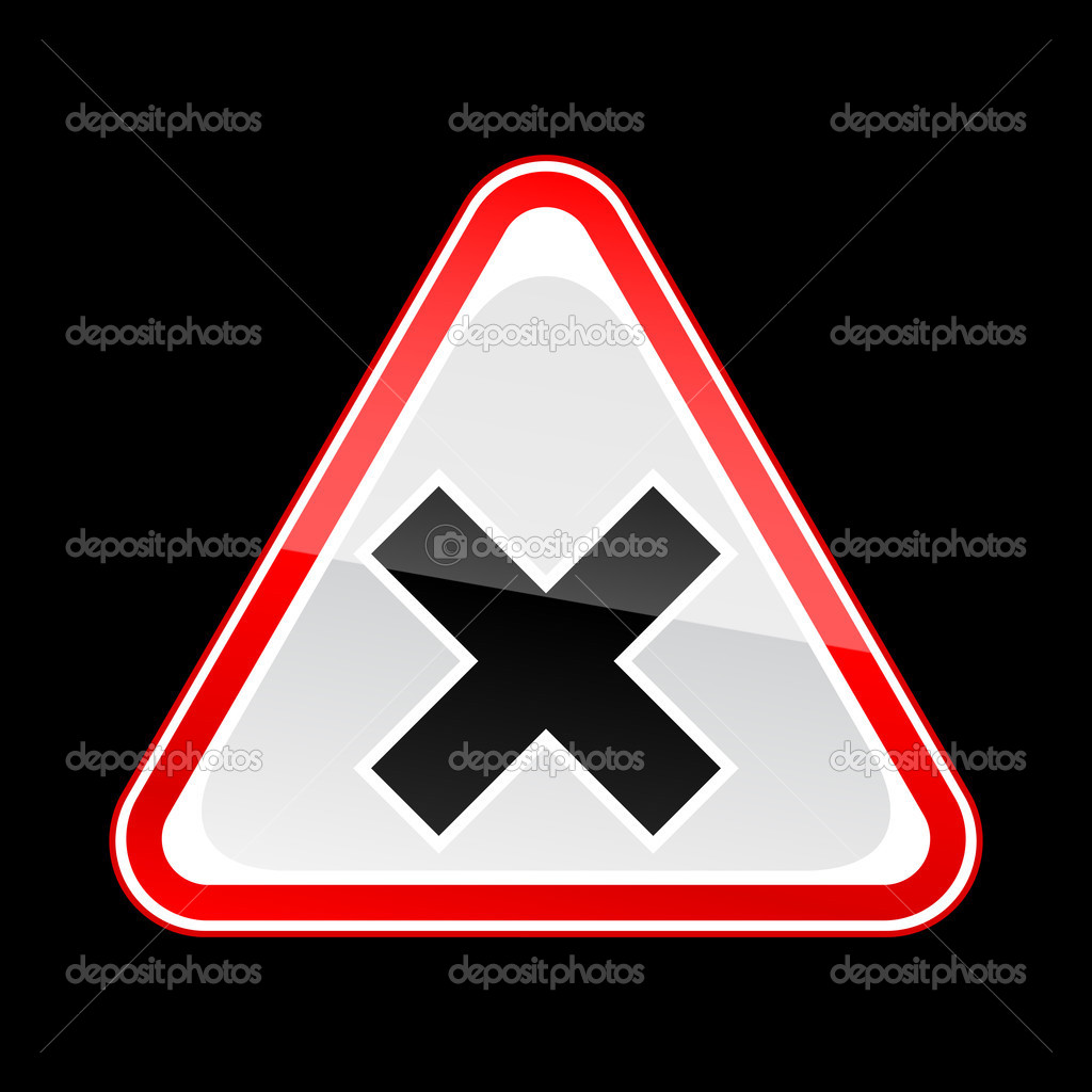 Red attention warning sign with irritant symbol on black stock red attention warning sign with irritant symbol on black stock vector biocorpaavc Gallery
