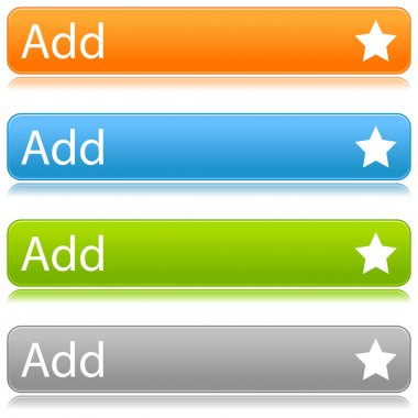 Colored star favorite web 2.0 button with shadow on white background. Bitmap copy my vector ID: 54425896