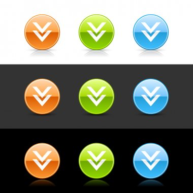 Glossy colored web 2.0 buttons download sign.
