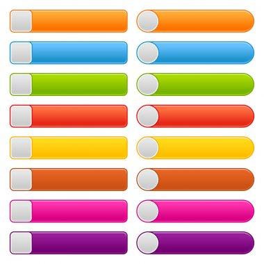 16 blank web 2.0 button navigation panel