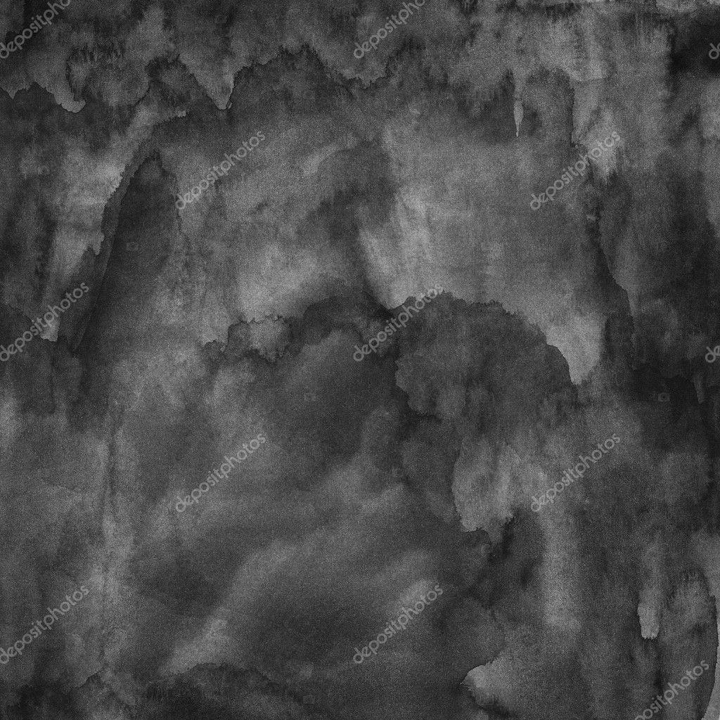 Black blank watercolor texture handmade technique - Peinture grey wash ...
