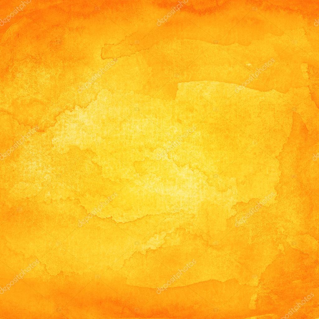 Watercolor texture orange background Stock Photo ifeelgood