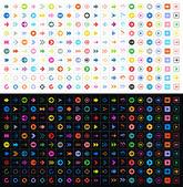 Fényképek 400 nyíl jel ikon készlet