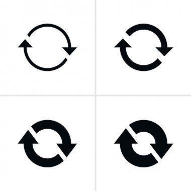 4 arrow efresh reload rotation loop sign set