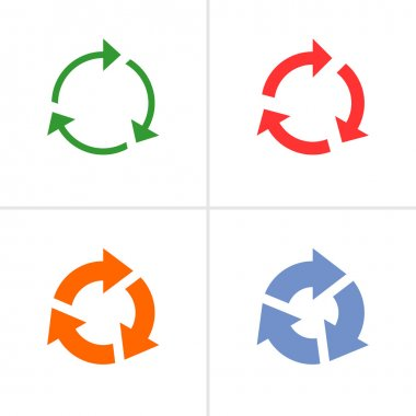 4 arrow  refresh, reload, rotation, loop, sign set