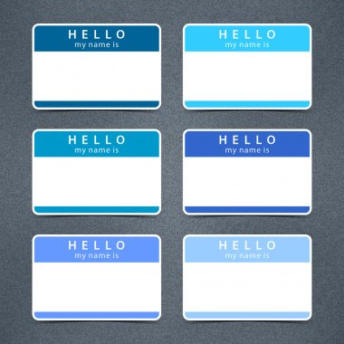 Badge name tag HELLO my name is