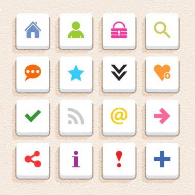 16 basic sign icon set