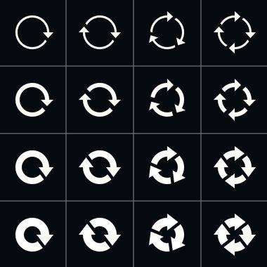 16 arrow pictogram refresh reload rotation loop sign set