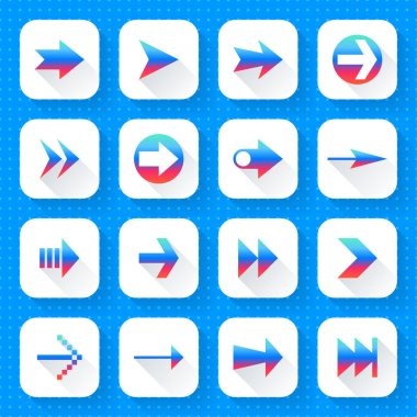 16 arrow icon set