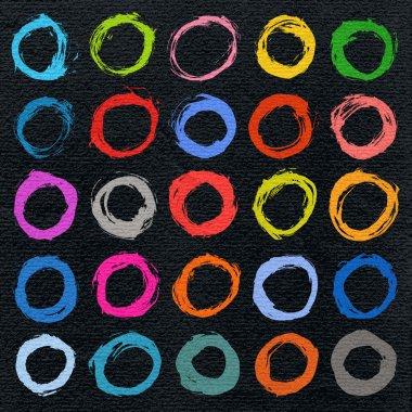 25 circle form brush stroke.