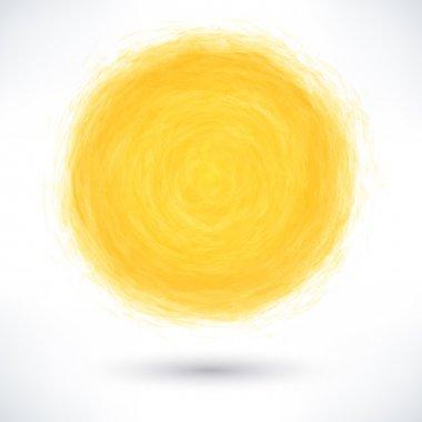 Yellow brush stroke in circle