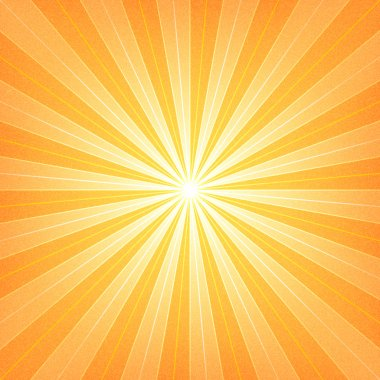 Orange sunburst blank background.