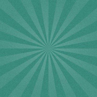 Turquoise sunbeam blank background.