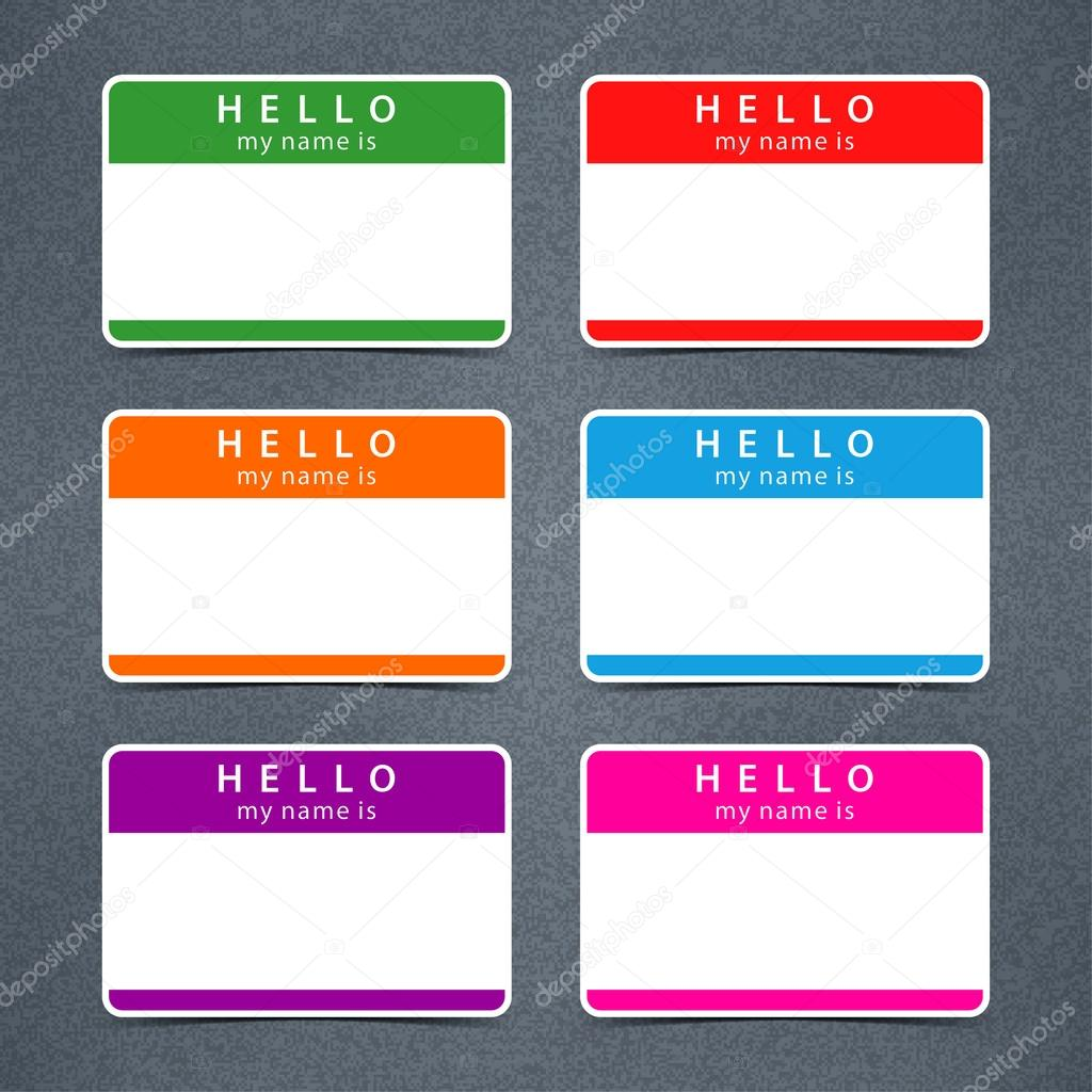 H tag background image - Empty Badge Name Tag Hello My Name Is Stock Vector 43902521