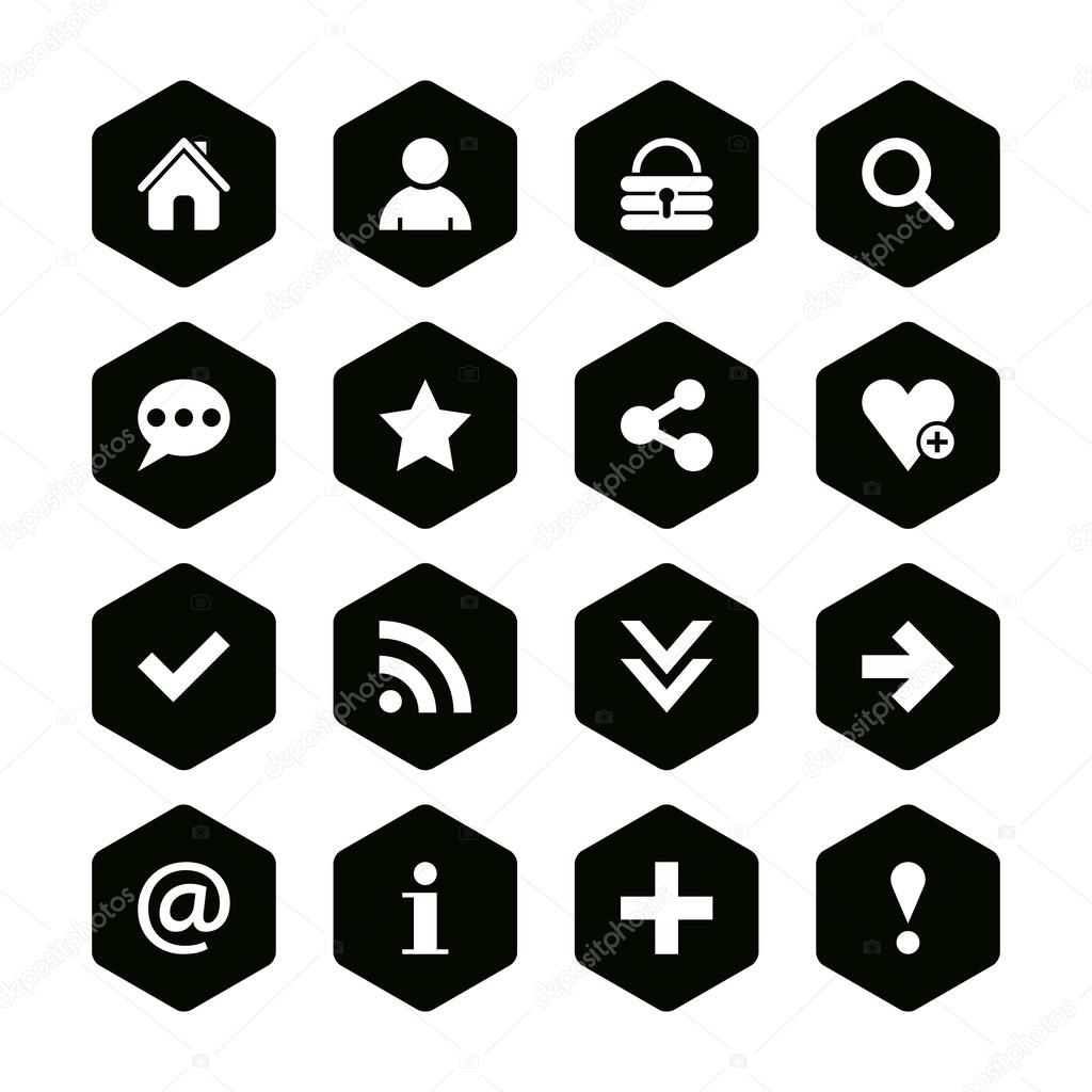 16 popular colors icon basic sign set