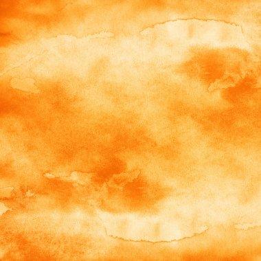 Watercolor orange texture background.