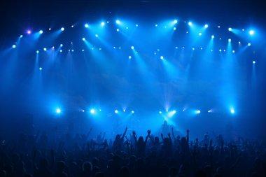 On rock concert. Light show stock vector