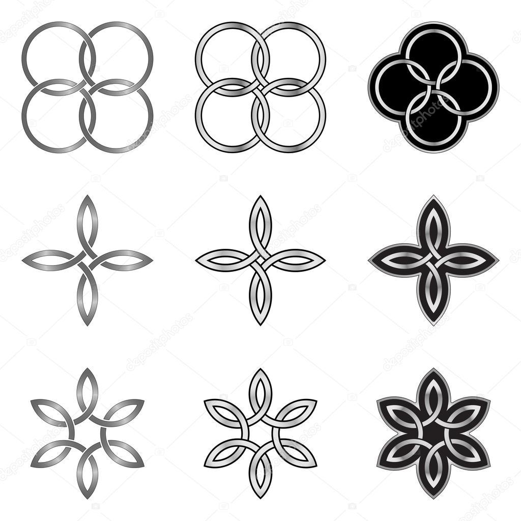 Colección de patrones de nudo celta — Archivo Imágenes Vectoriales ...