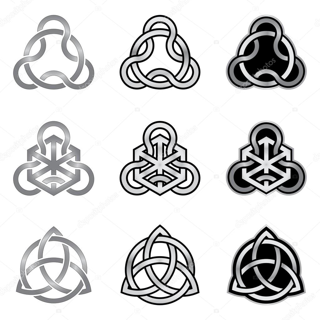Collection Of Celtic Knot Patterns Stock Vector Infografx 34177979