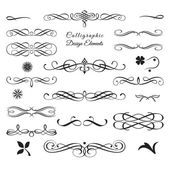 Collection of arabesque and calligraphic decorative elements 1