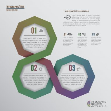 Octagons Infographic with 3 Options