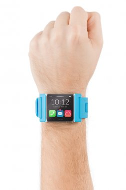 Hand with smart watch