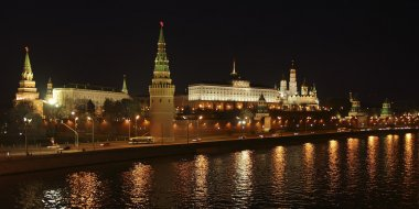 Moscow. Night view of the Kremlin