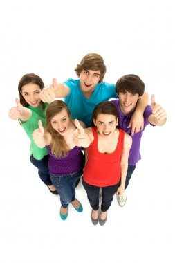 Teens With Thumbs Up