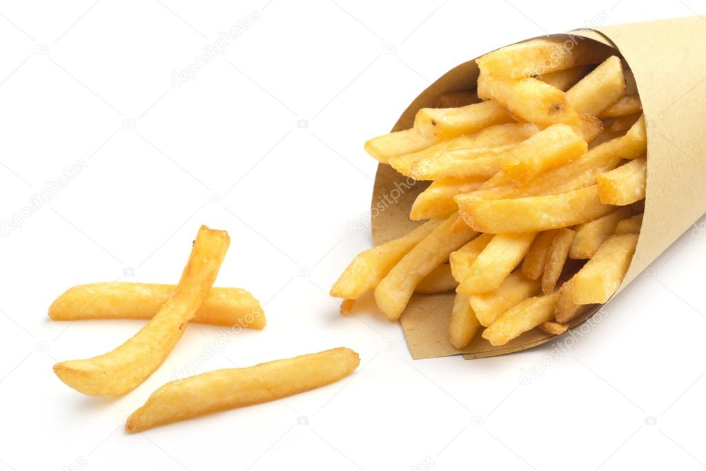 paper cone with fries