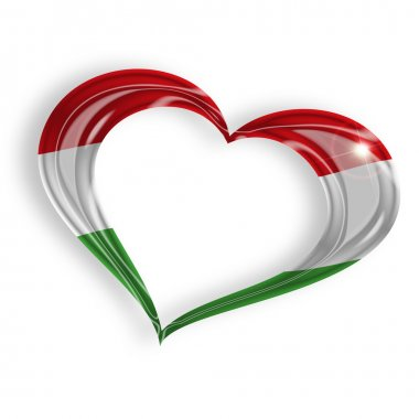 heart with hungarian flag colors
