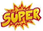Explosive super Label, die isoliert auf weißem Hintergrund