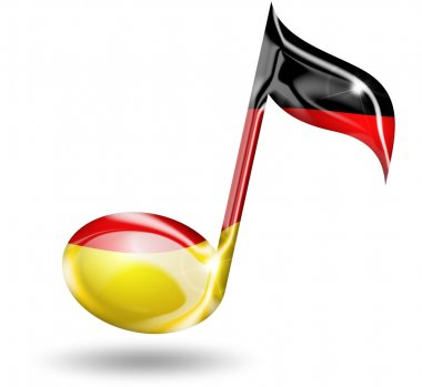 Musical note with german flag colors
