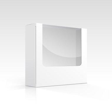 Vector Blank Box with Transparent Window clip art vector