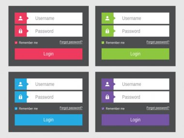 Login form flat design