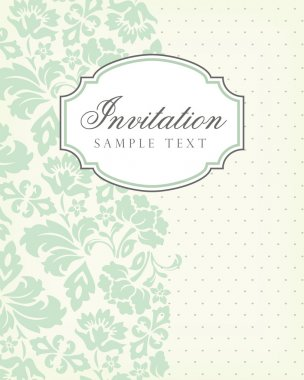 Vector vintage background and frame with sample text, for invitation or announcement. Vector illustration. stock vector