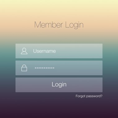 Minimal Login Form Design