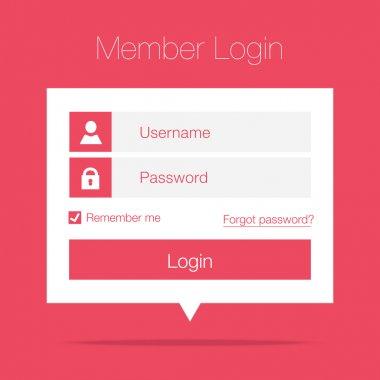 Clean Member Login Design