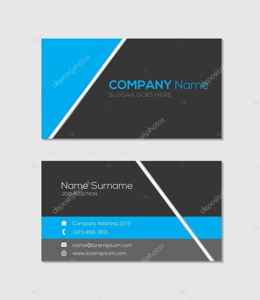 Modern Business Card Template Stock Vector Hellena - Modern business card template