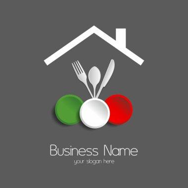 Food restaurant logotype