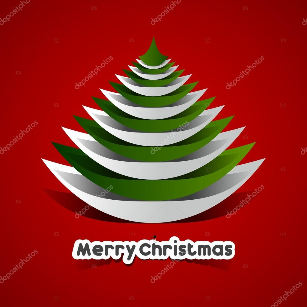 Creative Abstract Merry Christmas Card Stock Vector Nicousnake