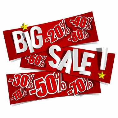 Big Sale On Red Banners